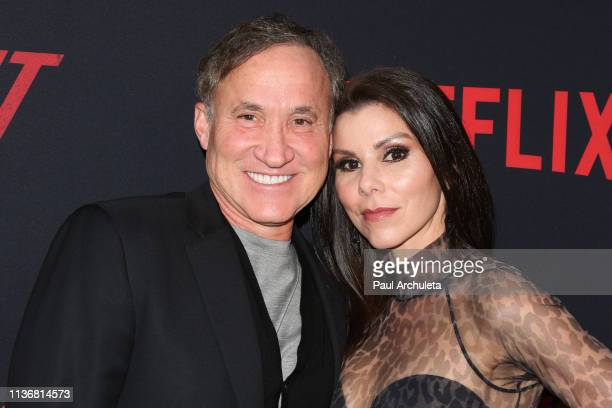 Personalities Terry Dubrow and Heather Dubrow attend the Premiere Of Netflix's The Dirt at ArcLight Hollywood on March 18 2019 in Hollywood California