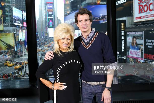 TV personalities Theresa Caputo and Adam Glassman visit 'Extra' to promote new episodes of Long Island Medium at Renaissance Hotel on March 29 2018...