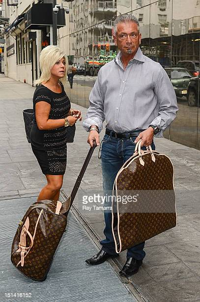 TV personalities Theresa Caputo and Larry Caputo leave the Good Day New York taping at the Fox 5 Studios on September 6 2012 in New York City