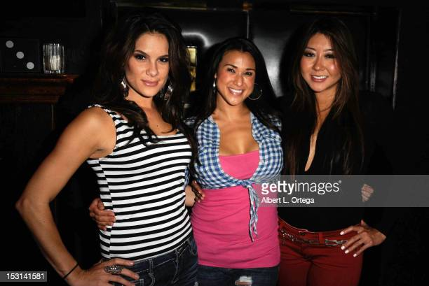 TV personalities Tiffany Michelle Kaylani Paliotta and Maria T Ho attend the Season Premiere Viewing Party Of CBS' 'The Amazing Race' Hosted By Kent...
