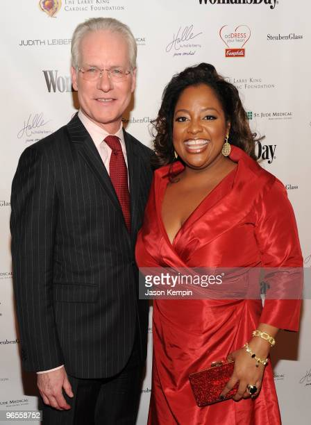 TV personalities Tim Gunn and Sherri Shepherd attend the 7th Annual Red Dress Awards presented by Woman's Day at Jazz at Lincoln Center on February...