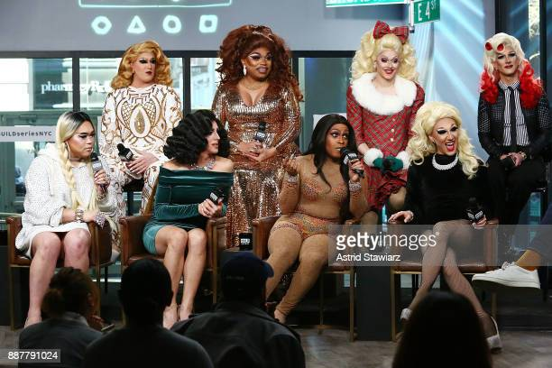TV personalities Tina Burner Brita Filter Paige Turner Chelsea Piers Holly BoxSprings Jada Valenciaga Marti Gould Cummings and Jasmine Rice LaBeija...