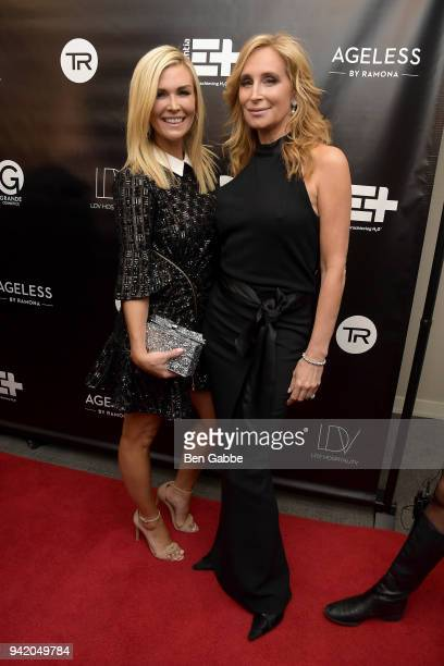 TV personalities Tinsley Mortimer and Sonja Morgan attend The Real Housewives of New York Season 10 Premiere Viewing Party at The Seville on April 4...