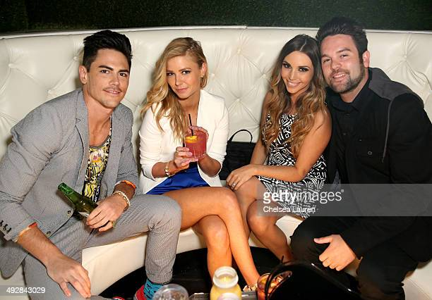 TV personalities Tom Sandoval Ariana Madix Scheana Marie and Mike Shay attend OK Magazine's So Sexy LA Event at LURE on May 21 2014 in Los Angeles...