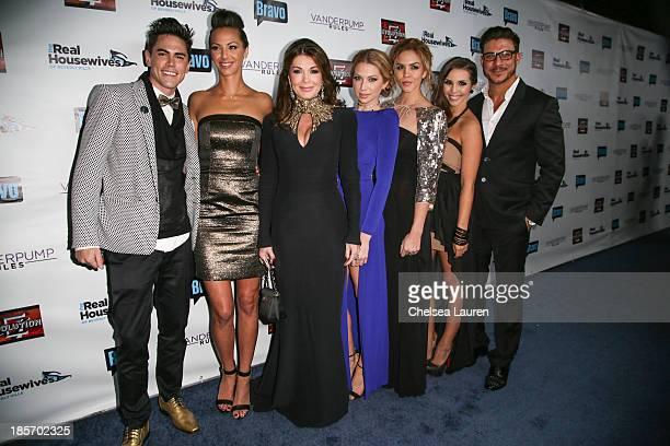 TV personalities Tom Sandoval Kristen Doute Lisa Vanderpump Stassi Schroeder Katie Maloney Scheana Marie and Jax Taylor arrive at 'The Real...