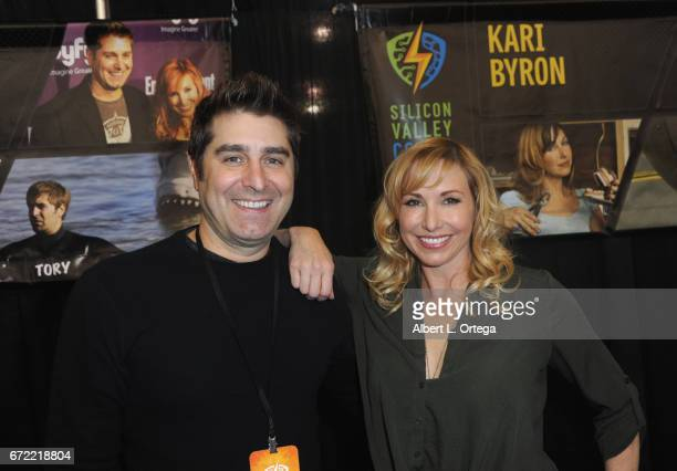Personalities Tory Belleci and Kari Byron on day 3 of Silicon Valley Comic Con 2017 held at San Jose Convention Center on April 22 2017 in San Jose...