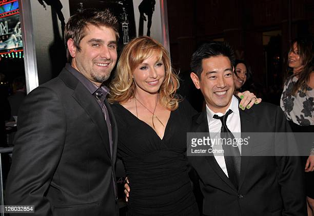 TV Personalities Tory Belleci Kari Byron and Grant Imahara arrive at The Green Hornet 3D Los Angeles Premiere held at Grauman's Chinese Theatre on...