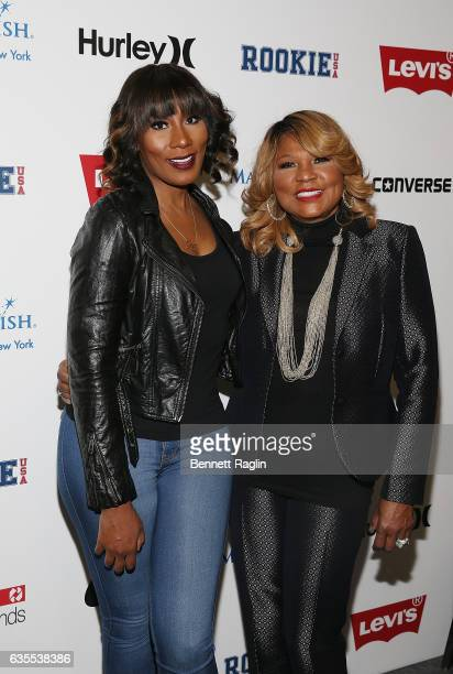 Personalities Towanda Braxton and mother Evelyn Braxton attend the Rookie USA Fashion Show during New York Fashion Week: The Shows at Skylight...