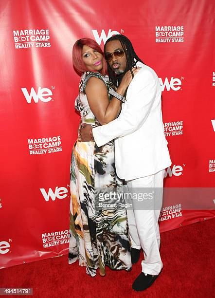 """Personalities Traci Braxton and Kevin Surratt attend the """"Marriage Boot Camp: Reality Stars"""" event at Catch Rooftop on May 29, 2014 in New York City."""