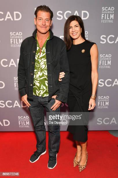 TV personalities Ty Pennington and TV personality Hildi SantoTomas attend 'The Shape of Water' screening at Trustees Theater during 20th Anniversary...