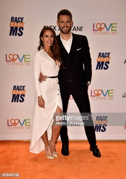 TV personalities Vanessa Grimaldi and Nick Viall attend the 24th Annual Race To Erase MS Gala at The Beverly Hilton Hotel on May 5 2017 in Beverly...