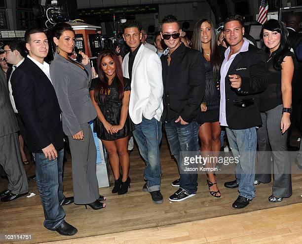 "Personalities Vinny Guadagnino, Jenni 'J-WOW' Farley, Nicole 'Snooki' Polizzi, Paul ""Pauly D"" DelVecchio, Michael 'The Situation' Sorrentino, Sammi..."