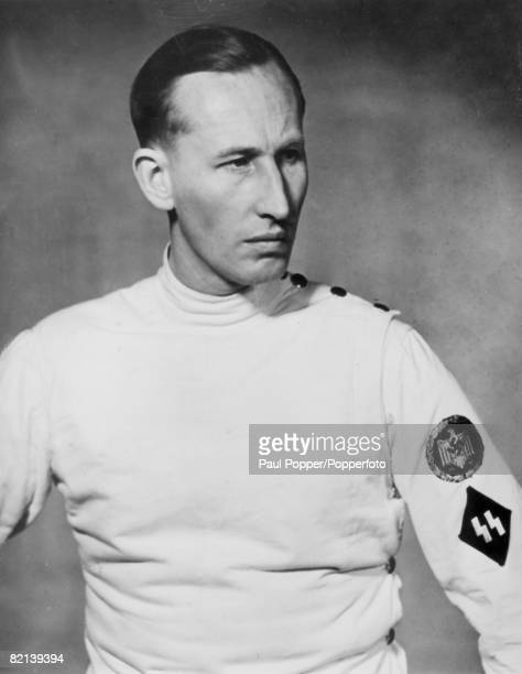 circa 1940 Reinhard Heydrich German SS Obergruppenfuhrer Chief of the Reich Security Main Office and at the time of this photo Leader of the Fencing...
