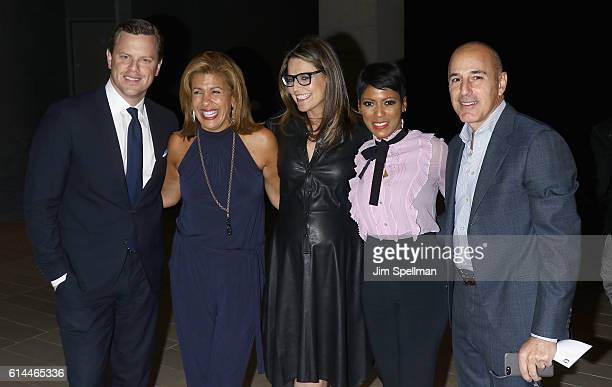 TV personalities Willie Geist Hoda Kotb Savannah Guthrie Tamron Hall and Matt Lauer attend the 54th New York Film Festival 'Jackie' screening on...