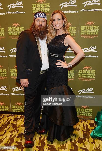 TV personalities Willie Robertson and Korie Robertson arrive at the world premiere of Duck Commander Musical' at Rio AllSuite Hotel Casino on April...