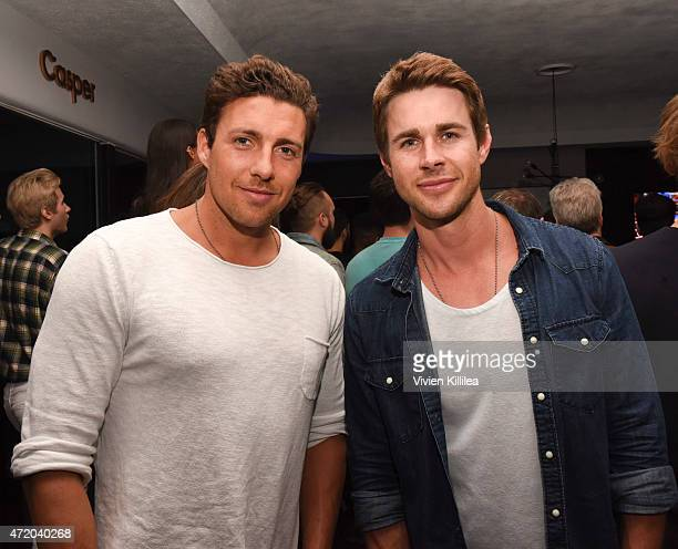 TV personalities Zack Kalter and Robert Graham attend Casper LA's Cinco De Mattress Party on May 3 2015 in West Hollywood California