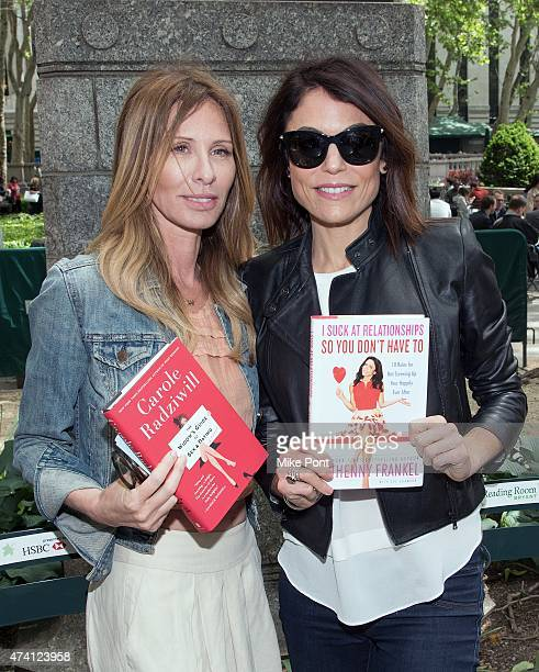 Personalities/Authors Carole Radziwill and Bethenny Frankel attend Bethenny Frankel in Conversation with Carole Radziwill at The Bryant Park Reading...