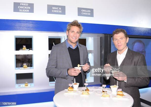 """Personalities/chefs Curtis Stone and Bobby Flay promote NBC's """"America's Next Great Restaurant"""" at Vanderbilt Hall at Grand Central Terminal on March..."""