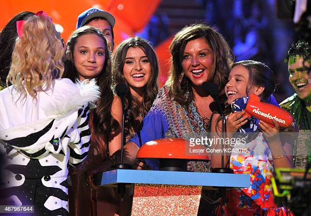TV personalities/dancers JoJo Siwa Maddie Ziegler Kalani Hilliker tv personality Abby Lee Miller and dancer/tv personality Mackenzie Ziegler accept...