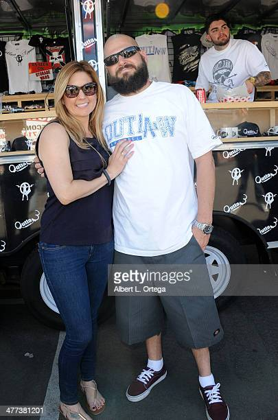 TV personalities/reality stars Brandi Passante and Jarrod Schulz attend the Premiere Party For Storage Wars Season 4 held at Now and Then Thrift...