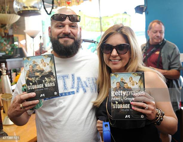 TV personalities/reality stars Jarrod Schulz and Brandi Passante attend the Premiere Party For Storage Wars Season 4 held at Now and Then Thrift...