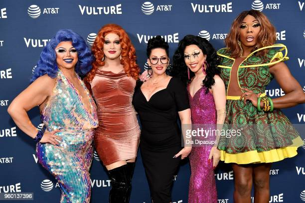 Personalitites Kalorie KarbdashianWilliams Jinkx Michelle Visage Yuhua Hamasaki and Bebe Zahara Benet attend the Vulture Festival Presented By ATT...