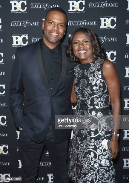 TV personality A J Calloway and journalist Deborah Roberts attend the 28th Annual Broadcasting and Cable Hall of Fame Awards at The Ziegfeld Ballroom...