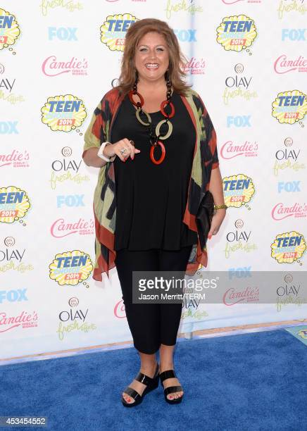 TV personality Abby Lee Miller attends FOX's 2014 Teen Choice Awards at The Shrine Auditorium on August 10 2014 in Los Angeles California