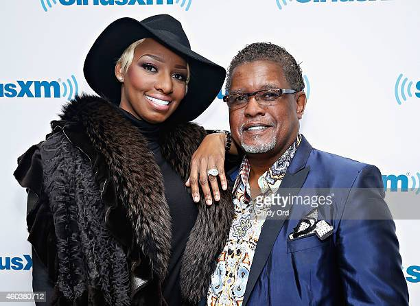 Personality/ actress NeNe Leakes and husband Gregg Leakes visit the SiriusXM Studios on December 12, 2014 in New York City.