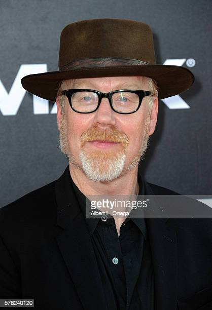 TV personality Adam Savage arrives for the Premiere Of Paramount Pictures' Star Trek Beyond held at Embarcadero Marina Park South on July 20 2016 in...