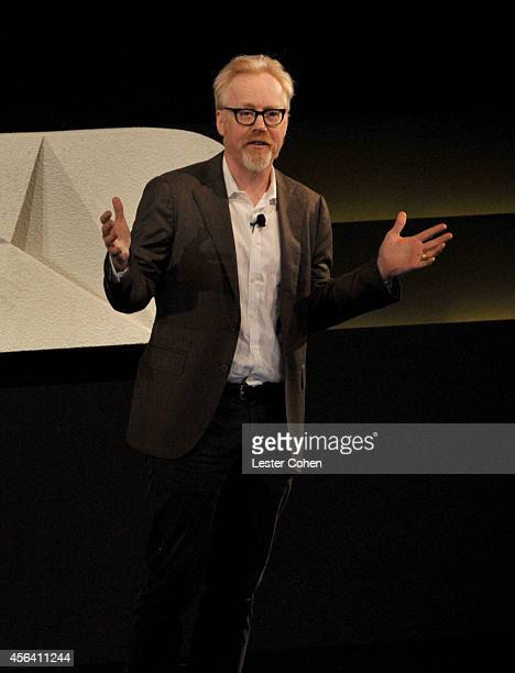TV personality Adam Savage speaks onstage at the WIRED by Design retreat at Skywalker Sound on September 30 2014 in Marin County California