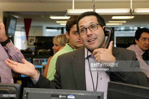 TV personality Adam Schefter fundraises forthe Annual Charity Day Hosted By Cantor Fitzgerald And BGC at the Cantor Fitzgerald Office on September 11...