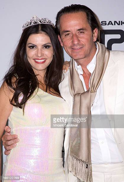 TV personality Adriana De Moura and fiance Frederic Marq attend The White Party during Jeffrey Sanker Presents White Party Palm Springs 2013 Day 2 at...