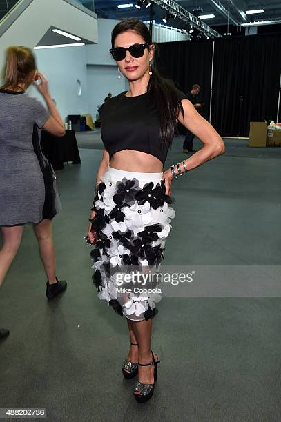 TV personality Adriana De Moura poses backstage at Tommy Hilfiger Women's Spring 2016 during New York Fashion Week The Shows at Pier 36 on September...