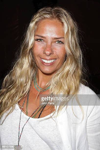 TV personality Adriane Galisteu attends the CIAMartima 2010 fashion show during MercedesBenz Fashion Week Swim at the Beachway at The Raleigh on July...