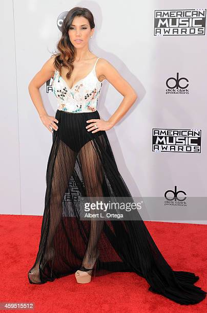 TV personality Adrianna Costa arrives for the 42nd Annual American Music Awards held at Nokia Theatre LA Live on November 23 2014 in Los Angeles...