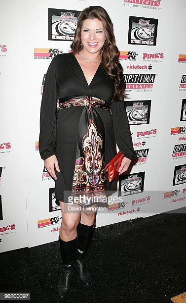 TV personality Adrienne Janic attends the OPTIMA Ultimate Street Car Broadcast premiere at the Egyptian Theatre on January 26 2010 in Hollywood...
