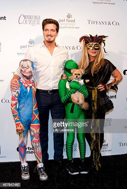 TV personality Adrienne Maloof and Jacob Busch attends the Amanda Foundation's 2014 Bow Wow Beverly Hills Halloween Rodeo Drive Night Of The Living...