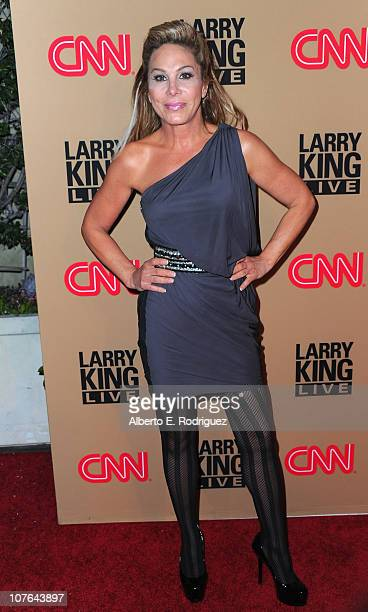 """Personality Adrienne Maloof arrives at CNN's """"Larry King Live"""" final broadcast party at Spago restaurant on December 16, 2010 in Beverly Hills,..."""