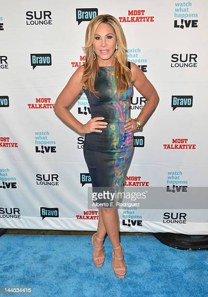 TV personality Adrienne Maloof arrives to Bravo Media's celebration of the book release of Andy Cohen's Most Talkative Stories From The Front Lines...
