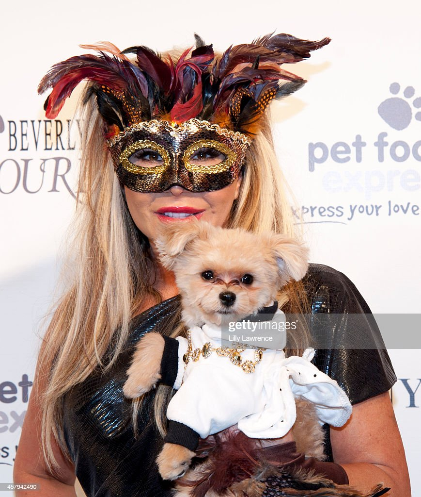 TV personality Adrienne Maloof attends the Amanda Foundation's 2014 Bow Wow Beverly Hills Halloween Rodeo Drive 'Night Of The Living Dog!' Event at Via Rodeo at Two Rodeo Drive on October 26, 2014 in Beverly Hills, California.