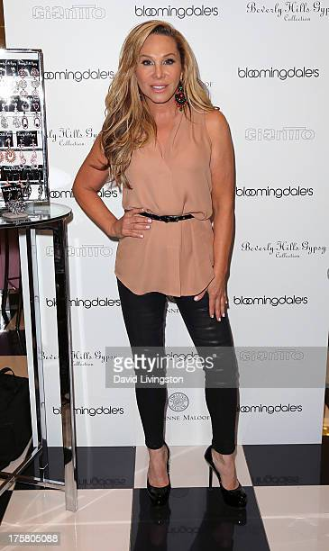 TV personality Adrienne Maloof attends the launch of her new earring line Beverly Hills Gypsy Collection at Bloomingdale's Century City on August 8...