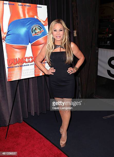 TV personality Adrienne Maloof attends the premiere of GoDigital's Dumbbells at SupperClub Los Angeles on January 7 2014 in Los Angeles California