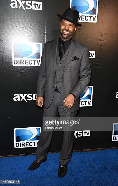 TV personality AJ Calloway attends DirecTV Super Saturday Night hosted by Mark Cuban's AXS TV and Pro Football Hall of Famer Michael Strahan at...