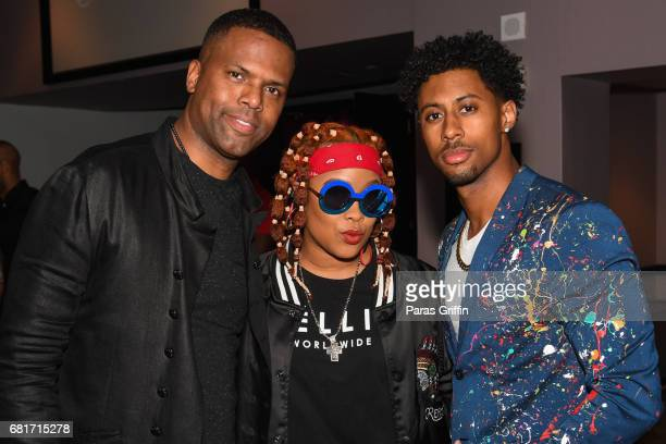 TV personality AJ Calloway Da Brat and Artist Jon Moody attend Pepsi And EMPIRE Celebrate Season Three Partnership With Viewing Party Of Musical...
