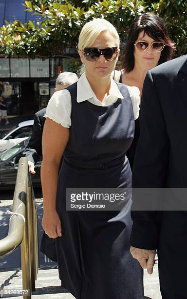 TV personality Ajay Rochester arrives at court to face welfare fraud charges at Downing Centre Local Court on January 13 2008 in Sydney Australia...