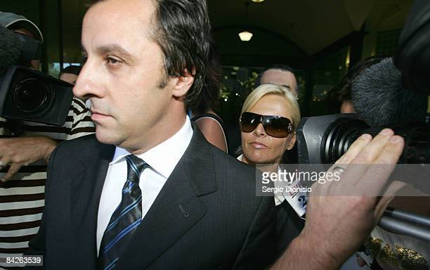 TV personality Ajay Rochester leaves court having faced welfare fraud charges at Downing Centre Local Court on January 13 2008 in Sydney Australia...