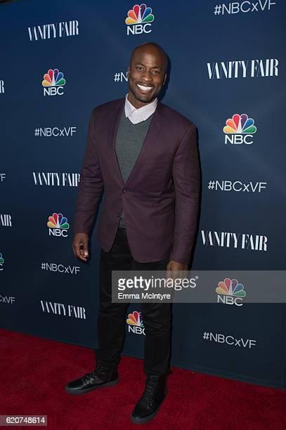 TV personality Akbar Gbajabiamila arrives at 'NBC and Vanity Fair toast the 20162017 TV Season' at NeueHouse Hollywood on November 2 2016 in Los...