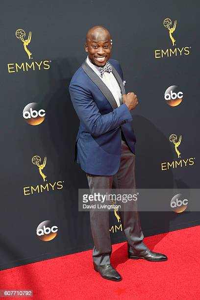 TV personality Akbar Gbajabiamila arrives at the 68th Annual Primetime Emmy Awards at the Microsoft Theater on September 18 2016 in Los Angeles...