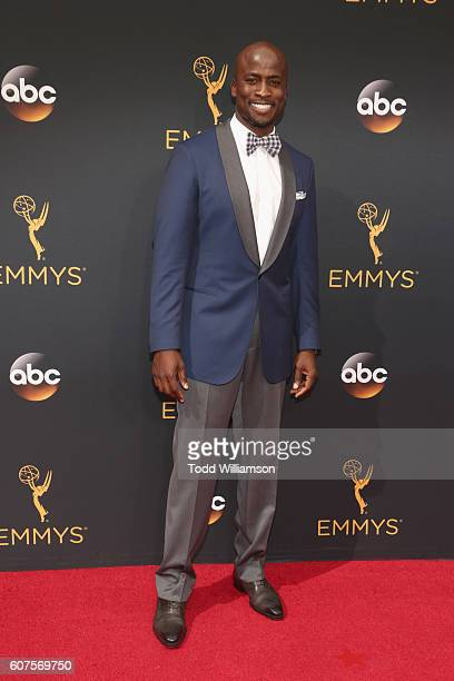 TV personality Akbar Gbajabiamila attends the 68th Annual Primetime Emmy Awards at Microsoft Theater on September 18 2016 in Los Angeles California